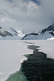 Antarctic sea ice. A crack in the Antarctic sea ice Stock Image