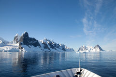 Antarctic sea vessels Royalty Free Stock Images