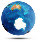 Antarctic and South Ocean real relief and water Royalty Free Stock Image