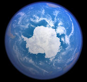 Antarctic from space vector illustration