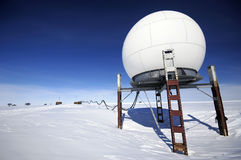 Antarctic station. Telecommunication unit of Antarctic research station Royalty Free Stock Photo