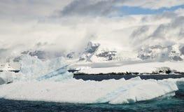 Antarctic Summer. The typical scenery around the Antarctic Peninsula Royalty Free Stock Photos