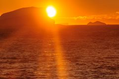 Sunset over the Weddell Sea royalty free stock photos