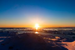 Antarctic sunset Royalty Free Stock Photo