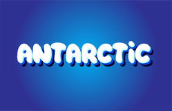Antarctic text 3d blue white concept vector design logo icon Royalty Free Stock Images