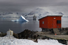 Antarctic tourism and research Royalty Free Stock Images