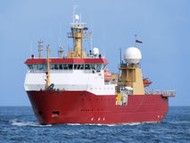 Antarctic Vessel A2. Polar Antarctic Expeditionary vessel underway at sea Royalty Free Stock Image