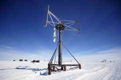 Antarctic wind energy Royalty Free Stock Images