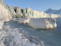 Antarctic winter landscape - glacier Stock Photo