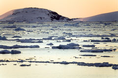 Antarctica. Sea ice in the Lamaire Channel in Antarctica Stock Photo