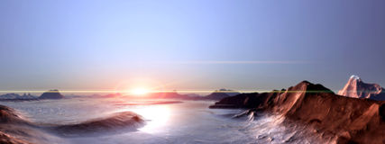 Antarctica. Widescreen Wallpaper Sky mountain Weather other atmosphere view backgroud stock photography