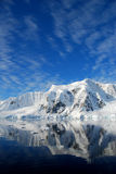 Antarctica. Sunny skies and icebergs in antarctica Stock Photo