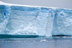 Antarctica - Antarctic Peninsula - Tabular Iceberg in Bransfield Stock Image