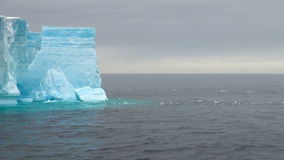 Antarctica - Antarctic Peninsula - Tabular Iceberg in Bransfield Strait stock footage