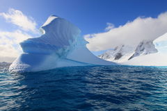 Antarctica - Beautiful day. Landscape and iceberg in Antarctica