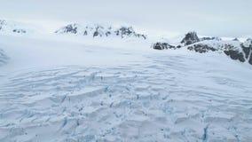 Antarctica coast ice floe Landscape aerial view. Arctic Extreme Snow Covered Island Coastline Glacier. Climate Change Concept. Antarctic Peninsula Panoramic stock video footage