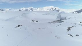 Antarctica coast mountain expedition aerial view