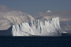 Antarctica, cuverville island. Antarctica and cuverville island with huge icebergs stock photos
