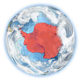 Antarctica on Earth isolated Stock Image