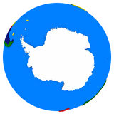 Antarctica on Earth political map Royalty Free Stock Photos