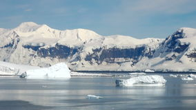 Antarctica in een zonnige dag stock footage