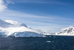 Antarctica -Fairytale landscape in a sunny day Stock Photos