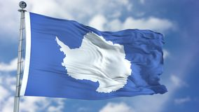 Antarctica Flag in a Blue Sky. Use this clip loud and proud to express loyalty and love to our country. It is a seamless loop with luma channel stock illustration
