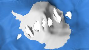 Antarctica flag perforated, bullet holes. White background, 3d rendering royalty free illustration
