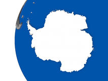 Antarctica on globe. Map of Antarctica with its flag on globe. 3D illustration vector illustration