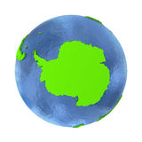 Antarctica on green Earth vector illustration
