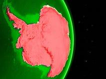 Antarctica on green networked globe stock illustration