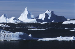 Antarctica ice bergs and sea Royalty Free Stock Images