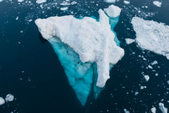 Antarctica. Ice floe on a sunny day in Antarctica from above Stock Photos