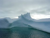 Antarctica iceberg. In a cloudy day Royalty Free Stock Images
