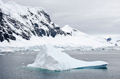 Antarctica - Iceberg And Landscape Stock Photography