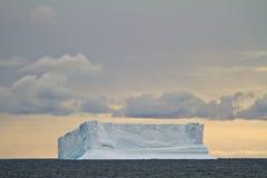 Antarctica - Iceberg At Sunset Stock Photos