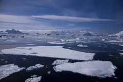Antarctica Landscape. Seaice in the antarctic summer 2008 Stock Photography