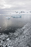 Antarctica - Landscape And Alleys Ice In A Cloudy Day Stock Photography