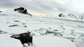 Antarctica landscape with ice field stock footage
