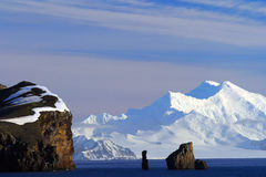 Antarctica landscape. Panoramic Antarctica landscape on a sunny day Stock Image