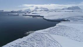 Free Antarctica Landscape, Penguins Starting To Swim. Stock Photography - 130417632