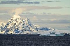 Antarctica - Landscape At Sunset Royalty Free Stock Photos