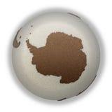 Antarctica on light Earth Royalty Free Stock Photo