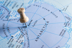 Antarctica on a map Royalty Free Stock Photos