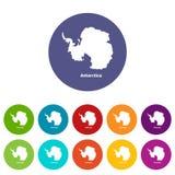 Antarctica map icon, simple style. Antarctica map icon. Simple illustration of antarctica map vector icon for web vector illustration