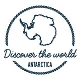 Antarctica Map Outline. Vintage Discover the. Antarctica Map Outline. Vintage Discover the World Rubber Stamp with Antarctica Map. Hipster Style Nautical Rubber stock illustration