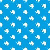 Antarctica map pattern vector seamless blue. Repeat for any use royalty free illustration