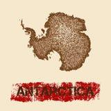 Antarctica martwił mapę ilustracji