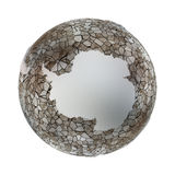 Antarctica on metallic Earth Stock Images