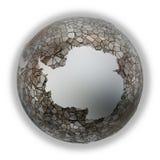 Antarctica on metallic Earth Royalty Free Stock Photo